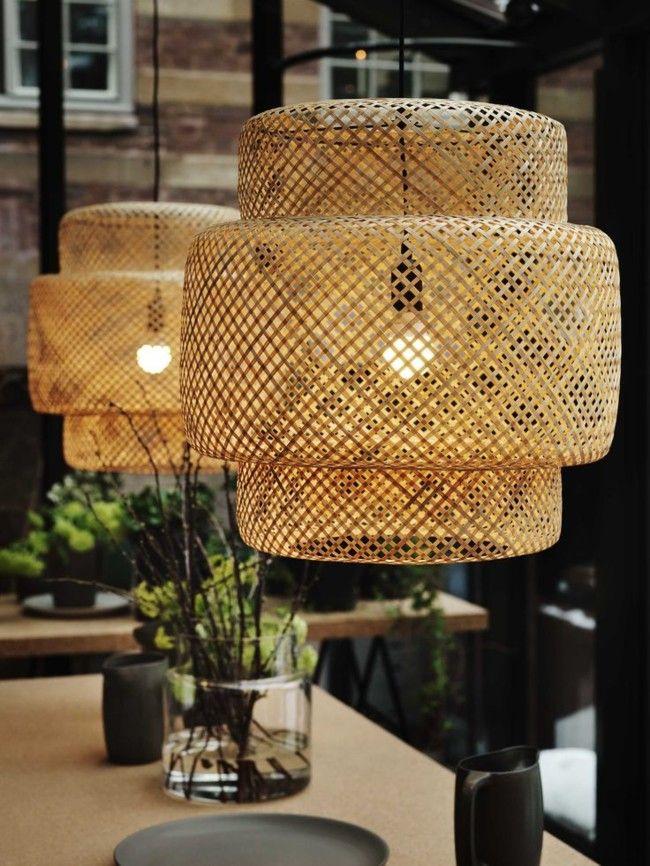 Lámparas de mimbre para darle el toque rústico a tu hogar ...