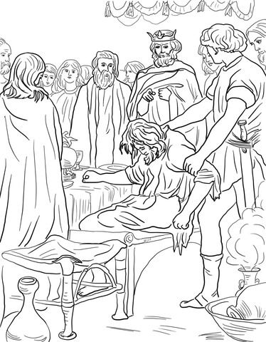 Parable Of The Wedding Feast Coloring Page From Jesus Parables