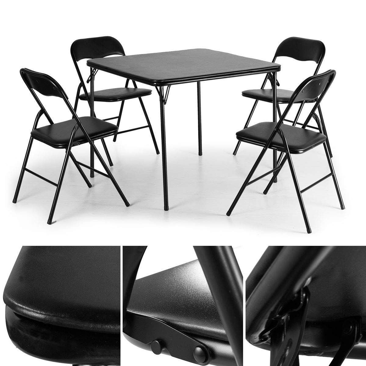Tobbi 5piece Folding Table And Chairs Set Multipurpose Kitchen Dining Games Table Set Want To Know More In 2020 Dining Table Setting Table And Chair Sets Chair Set
