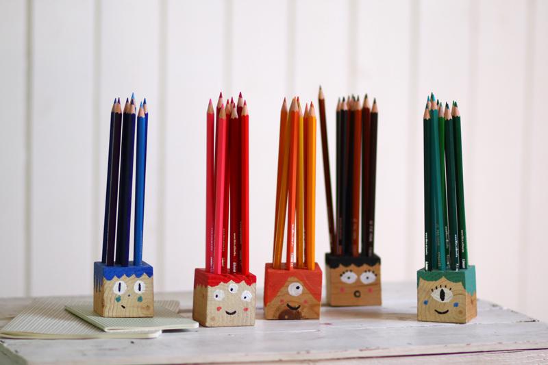 DIY for Kids: Buntstifthalter Für die Schule habe ich in den Ferien reichlich hergestellt, eine Klasse füllt…