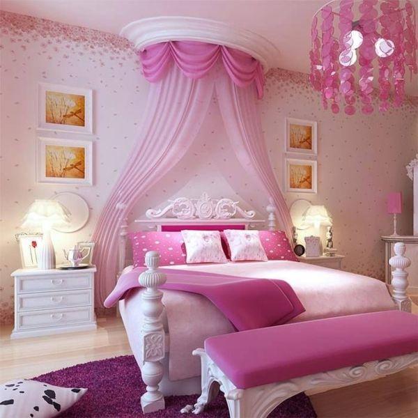 rosa schlafzimmer himmelbett prinzesssin Schlafzimmer Ideen
