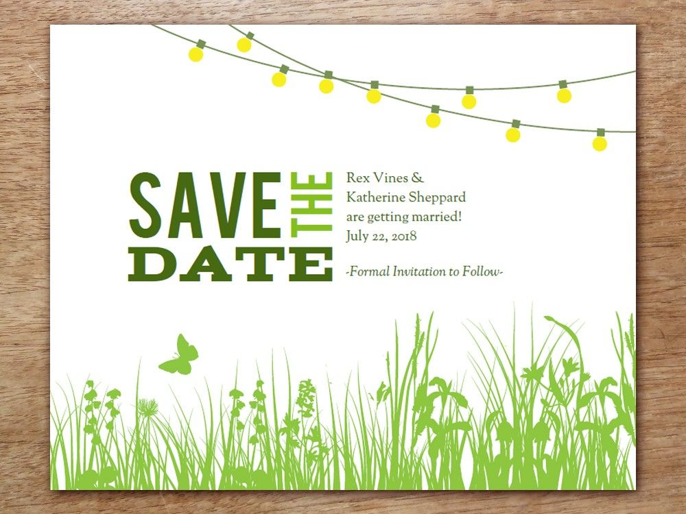 Printable Save the Date - Garden Party | Wedding stuff, Wedding and ...