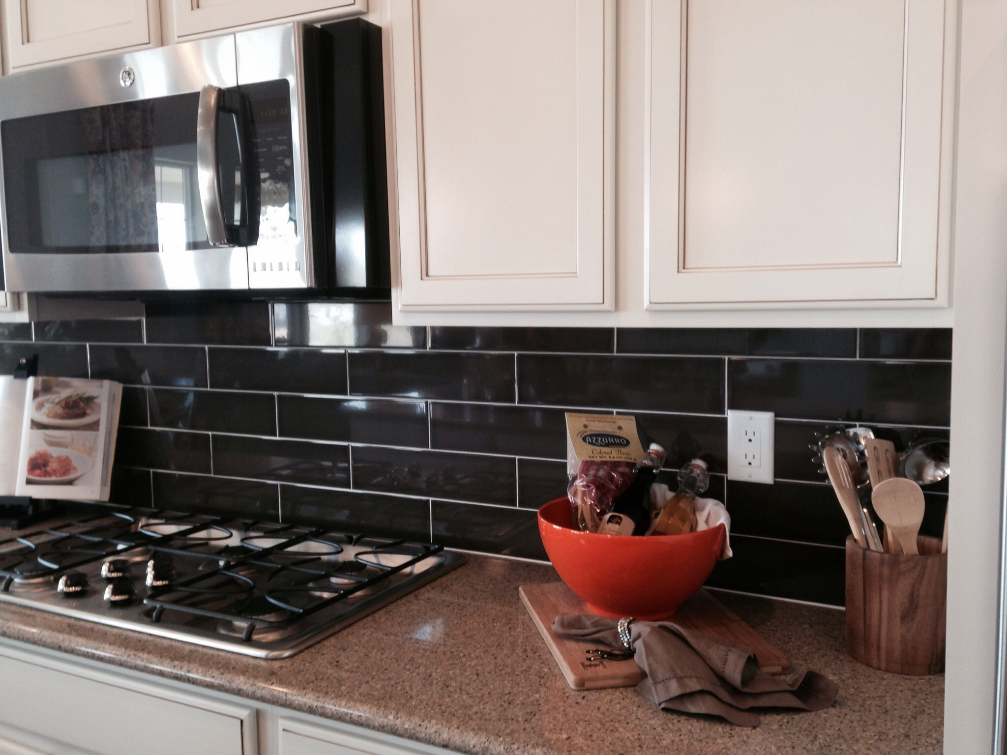 Kitchen Backsplash Cafe H Line Glass Subway Tiles In 3x6 Instead