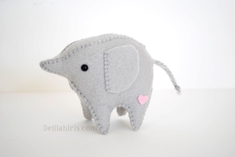 Mini felt elephant toy sewing pattern sew your own baby elephant mini felt elephant toy sewing pattern sew your own baby elephant stuffed felt animals jeuxipadfo Choice Image