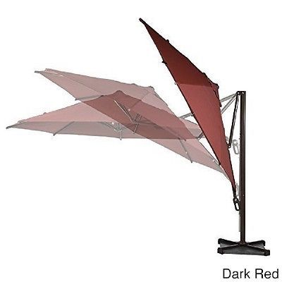 Large Outdoor Umbrella Commercial Covers for Furniture Waterproof Patio Deck Red