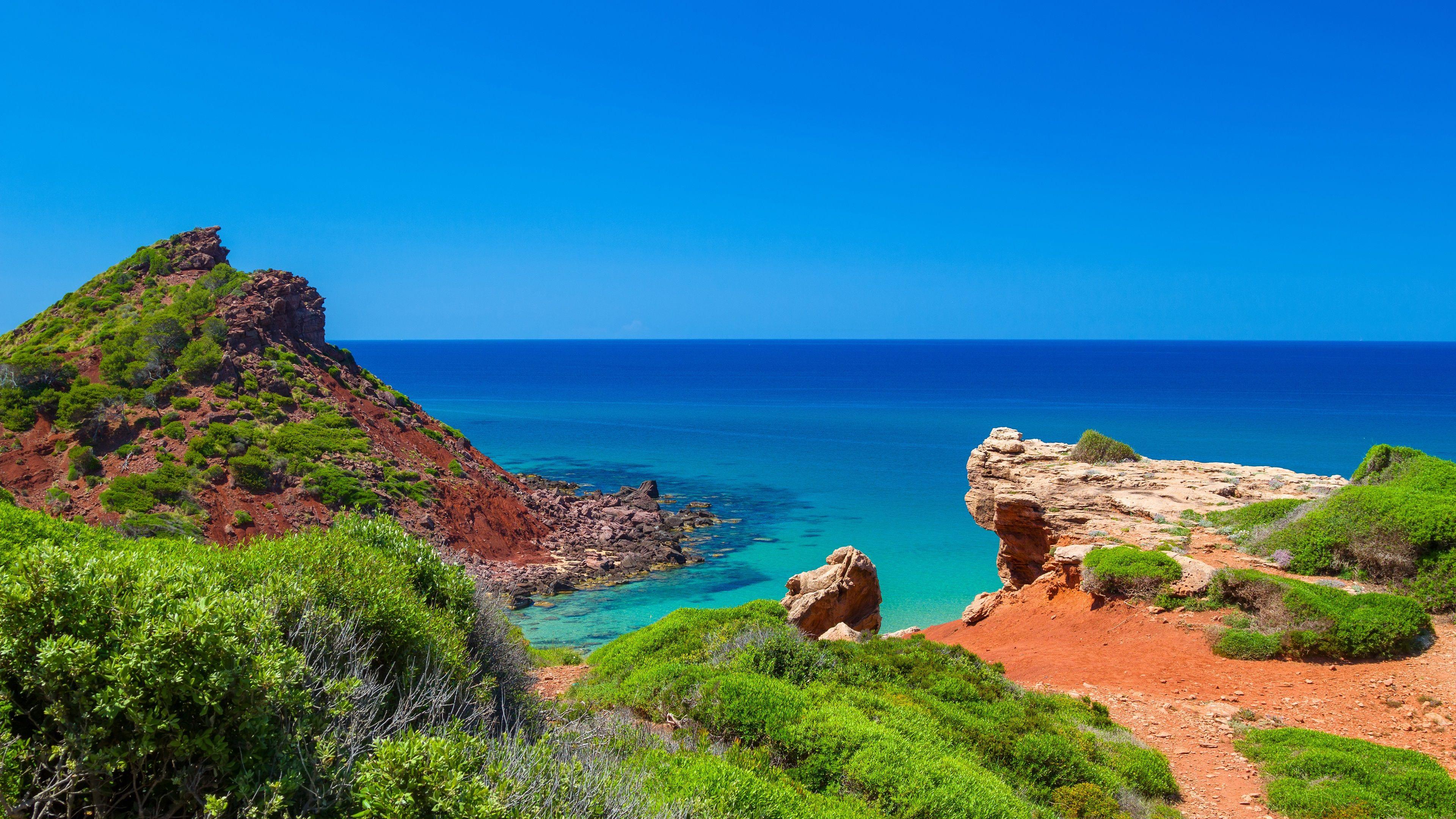 Minorque Mer Cote Ile Espagne Fonds D Ecran 3840x2160 Uhd 4k Minorque Espagne Paysage Marin
