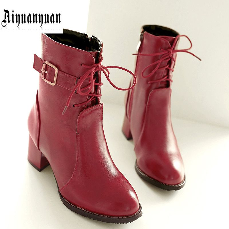 2016 EUR plus size to 40 41 42 43 44 45 46 47 48 ZIPPER design leisure style women PU WOMEN boots most countries FREE SHIPPING