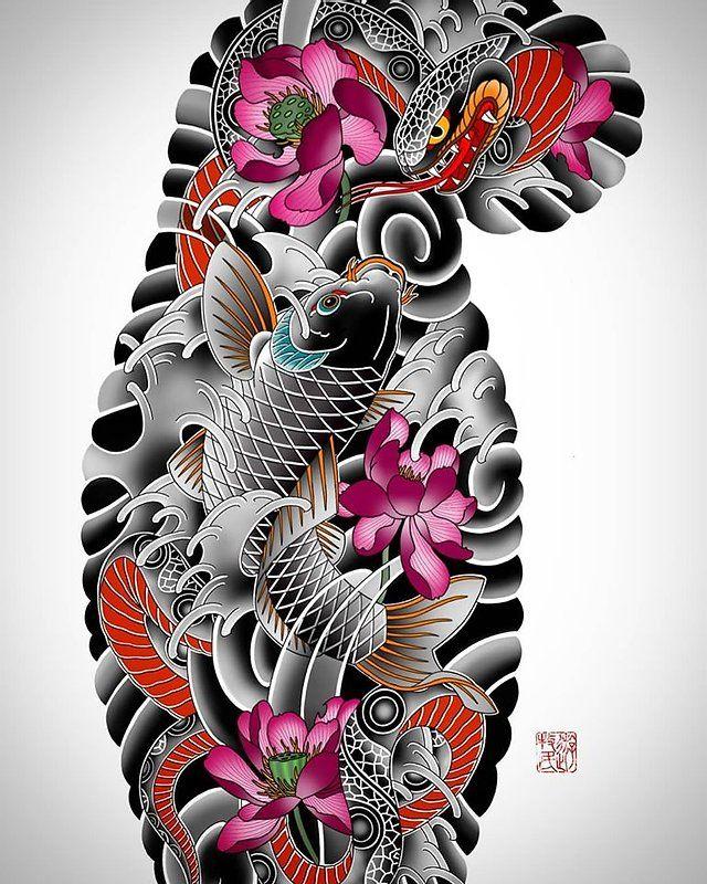 sketches   кочевник тату   японская татуировка