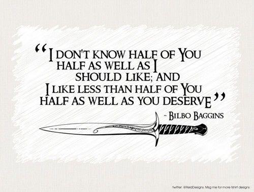 Oh Bilbo :)