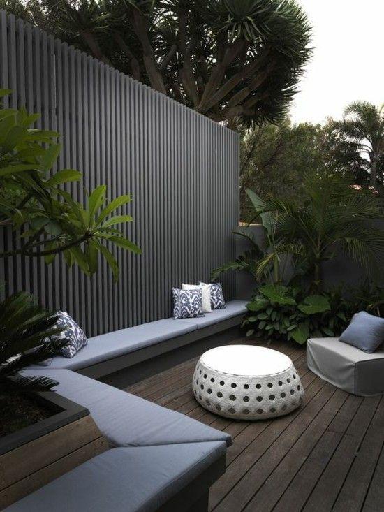 Gestaltungsideen moderne terrasse schicht und windschutz for Dachterrassen gestaltungsideen