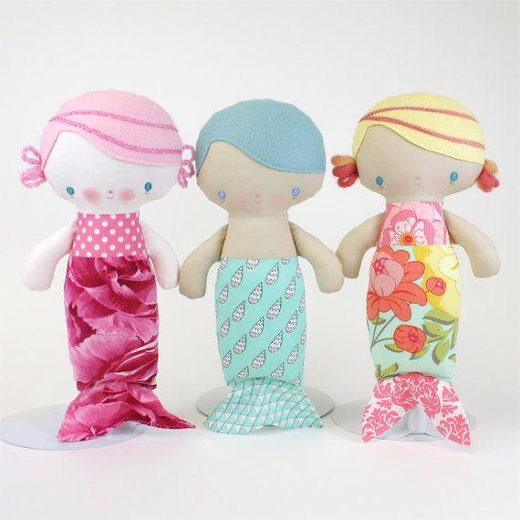 Baby Mermaid Doll PDF Pattern   Baby Meerjungfrau, Meerjungfrauen ...