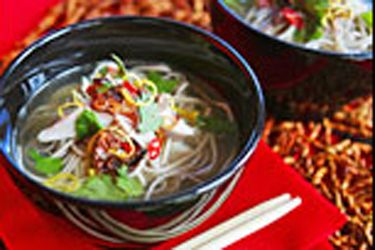 Soba chicken noodle soup with fried shallots recipe viva visit soba chicken noodle soup with fried shallots recipe viva visit food hub for new forumfinder Images