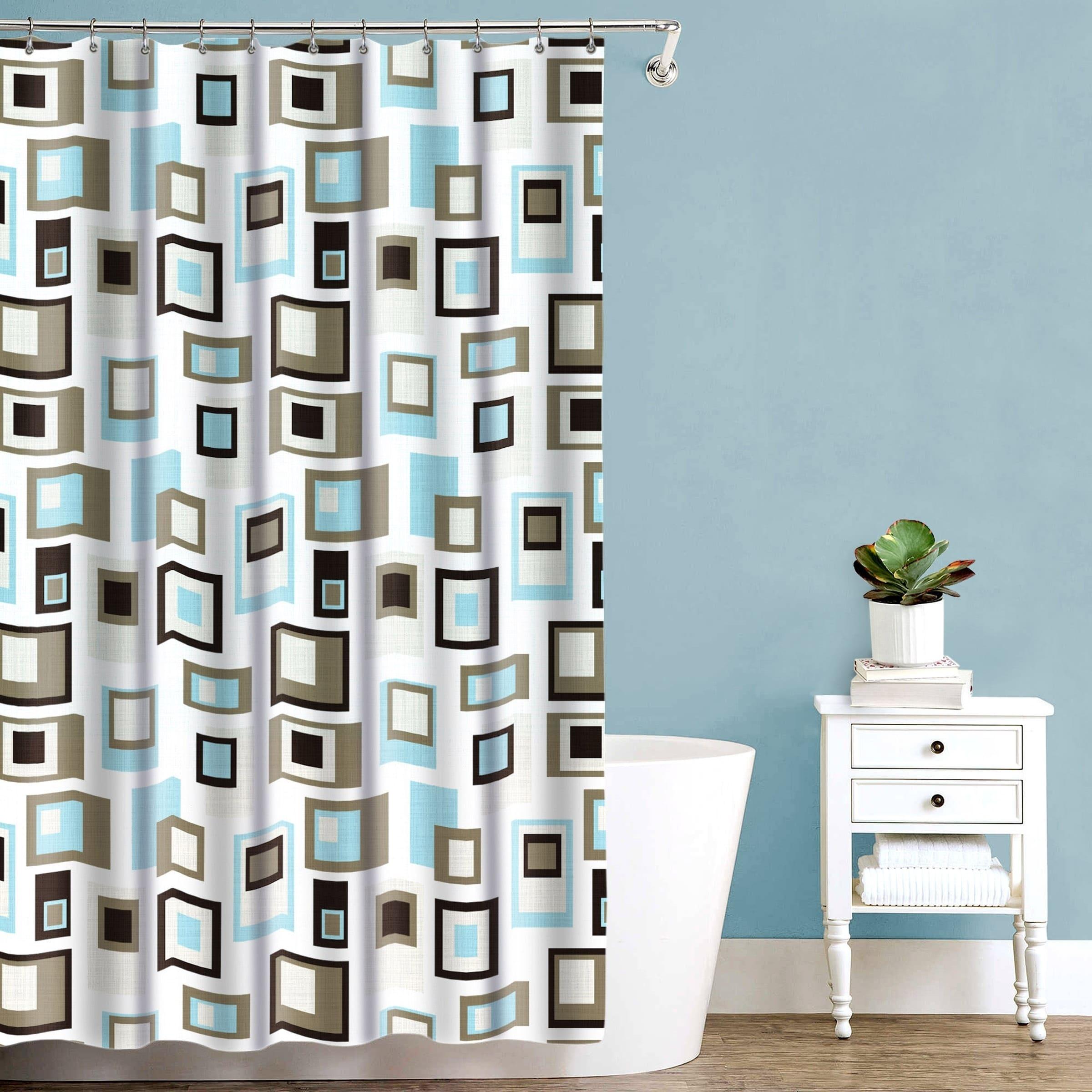Splash Home Cubist Polyester Fabric Shower Curtain 70 X 72
