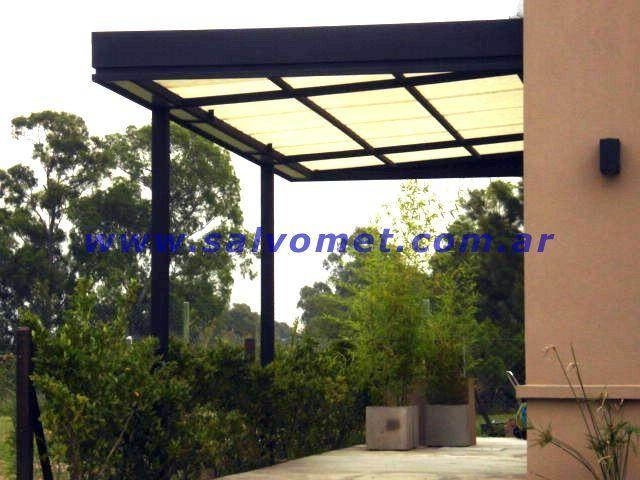 Herreria fabrica de techos para garages cerramientos de for Techos de madera para patios