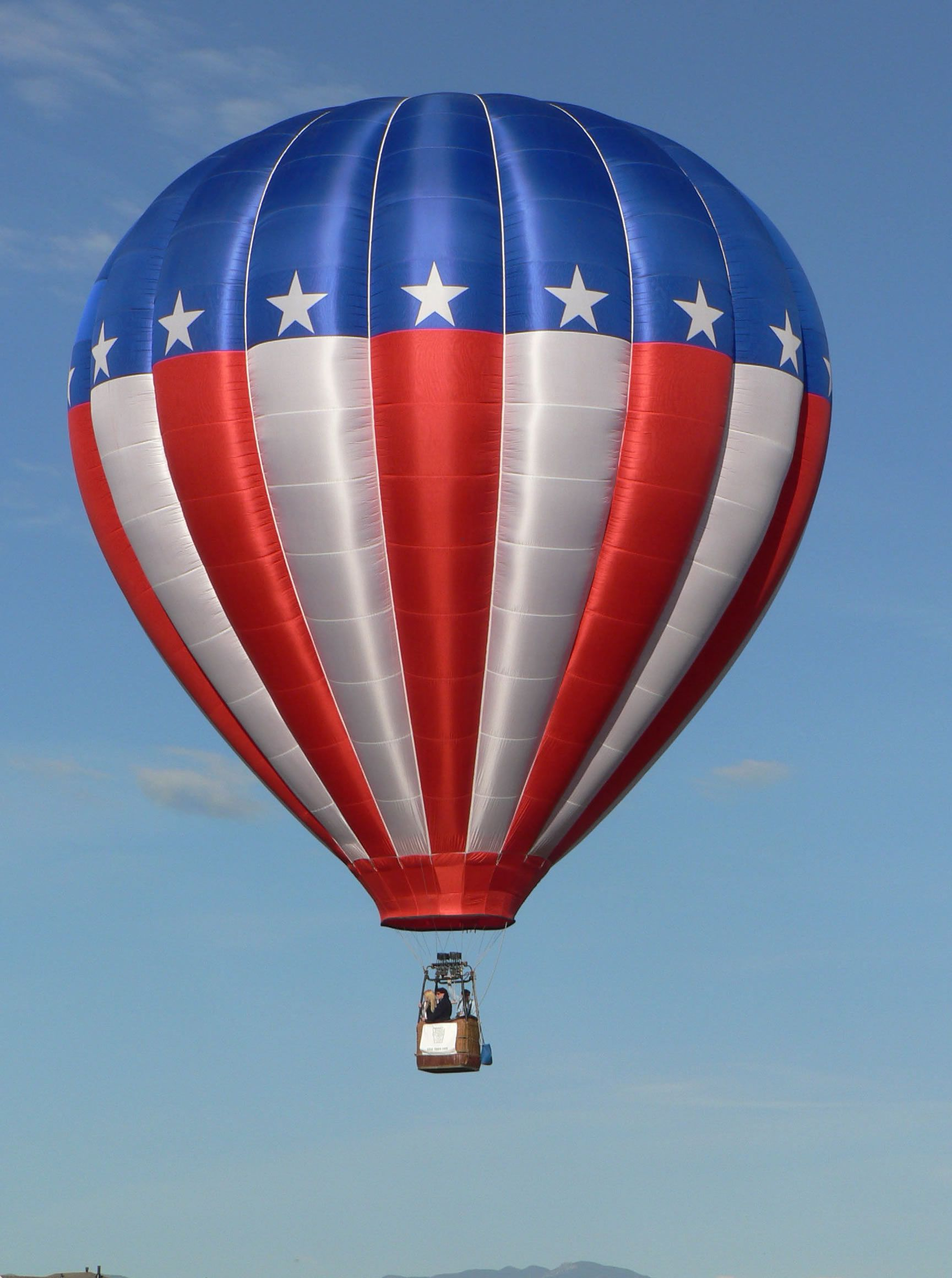 Hot Air Balloon Red , White and Blue in 2019 Hot air
