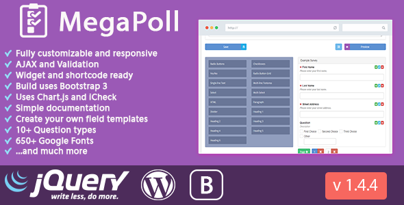 MegaPoll: Wordpress Poll and Survey Builder Plugin