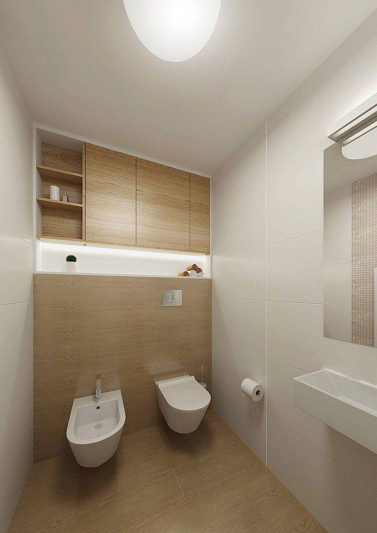 Eingebauter Stauraum Im Bad Fliesen In Holzoptik Bad Pinterest - Fliesen in holzoptik für das bad