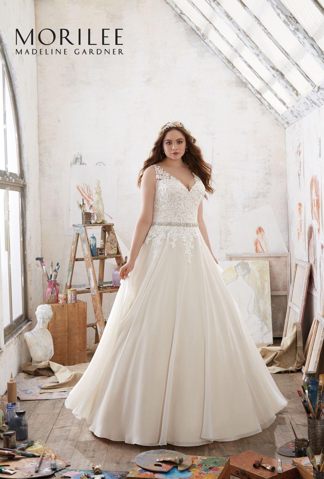 Suknia ślubna Mori Lee Na Ramiączka W Kształcie Litery A