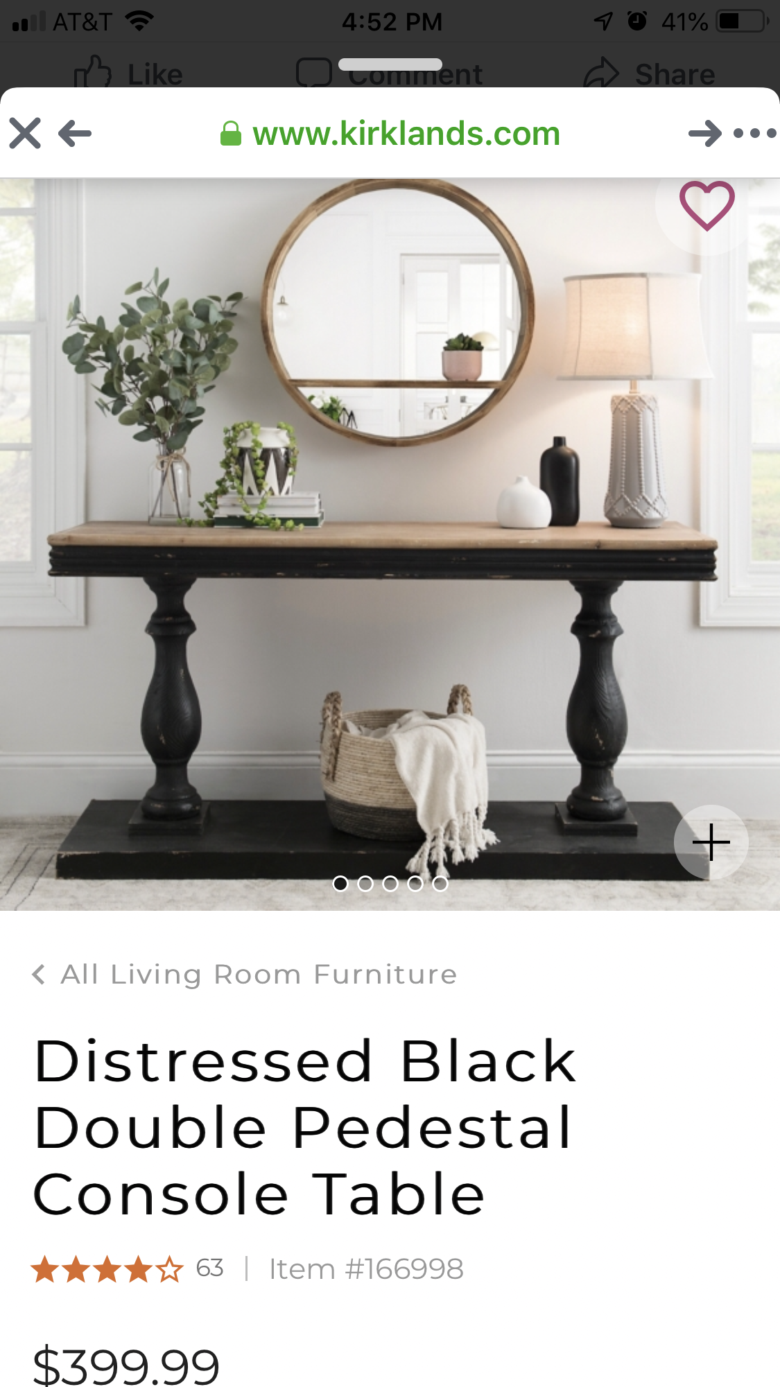 Distressed Black Double Pedestal Console Table Kirklands Living Room Furniture Console Table Furniture