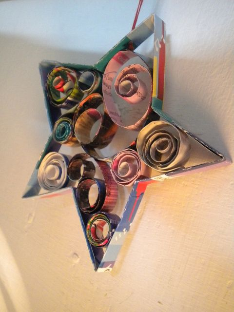Recycled Magazine Ornaments