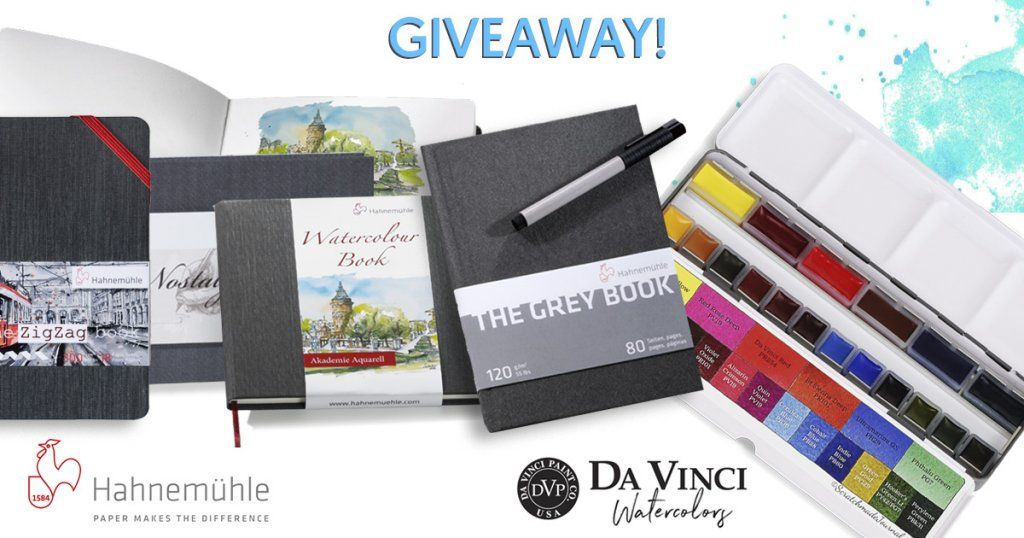 Hahnemuhle Sketchbooks Da Vinci Watercolor Giveaway Hahnemuhle