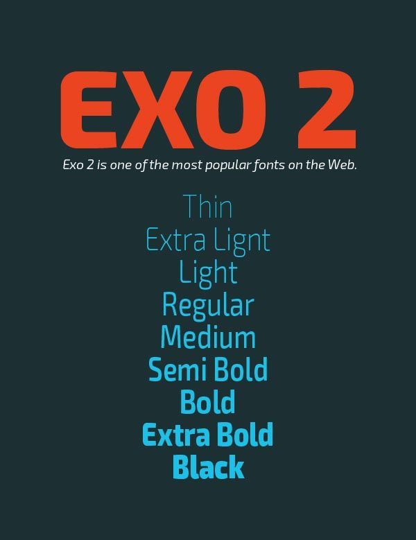 Exo 2 Free Font | Free Fonts, Typefaces, Font Family | Free fonts