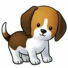 A Cartoon Beagle Looks Like Mine Puppy Clipart Cute Cartoon