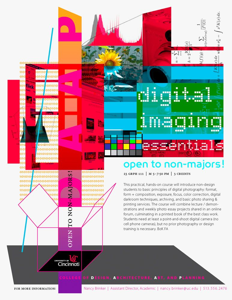 Digital Imaging Essentials Course Flyer