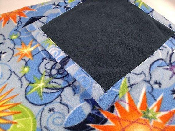 Doll Quilt or Beardie Blanket Set CELESTIAL w/dark by kre8ivLizard