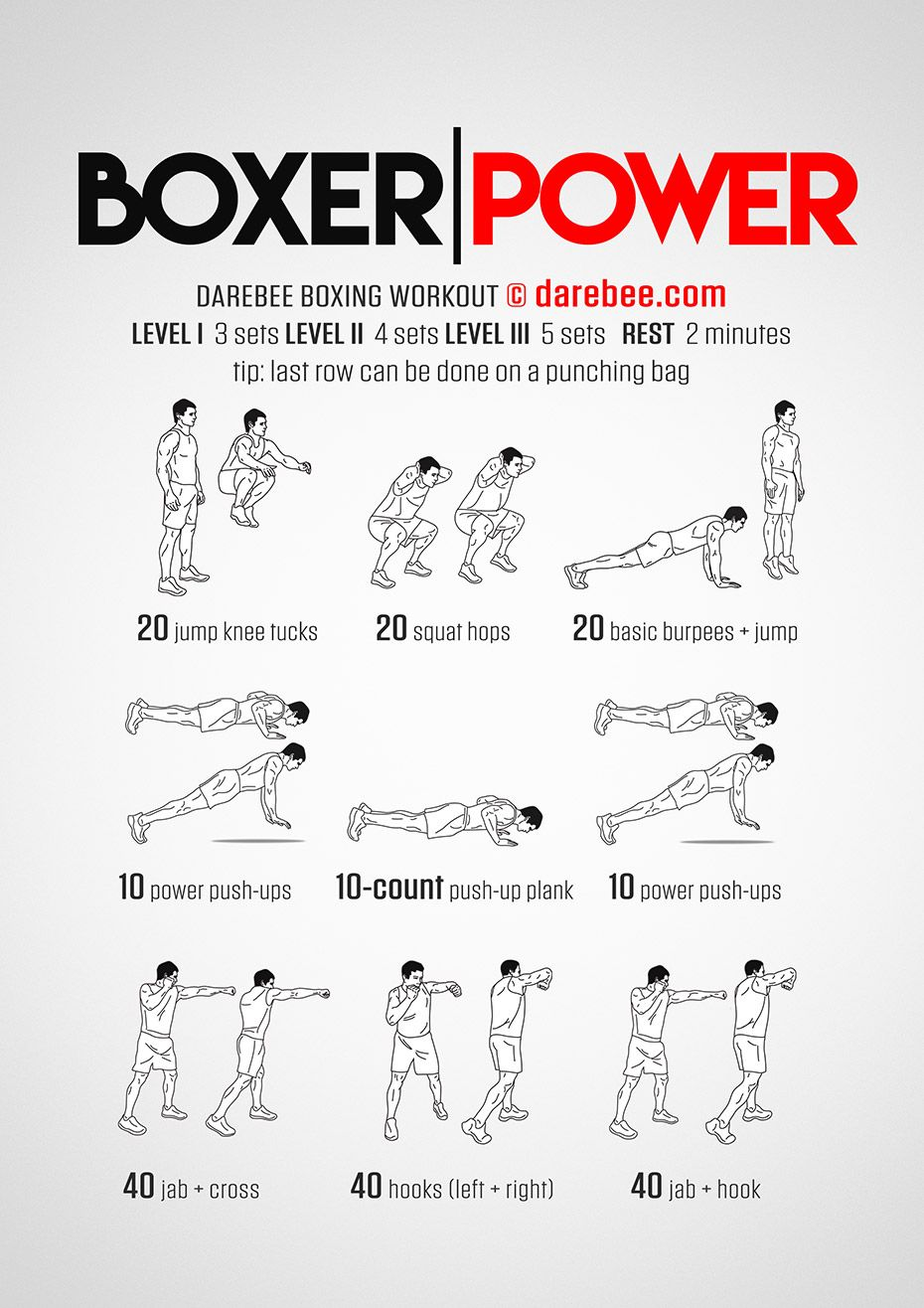 boxer power workout neilarey darebee pinterest boxen bungen und kickboxen. Black Bedroom Furniture Sets. Home Design Ideas