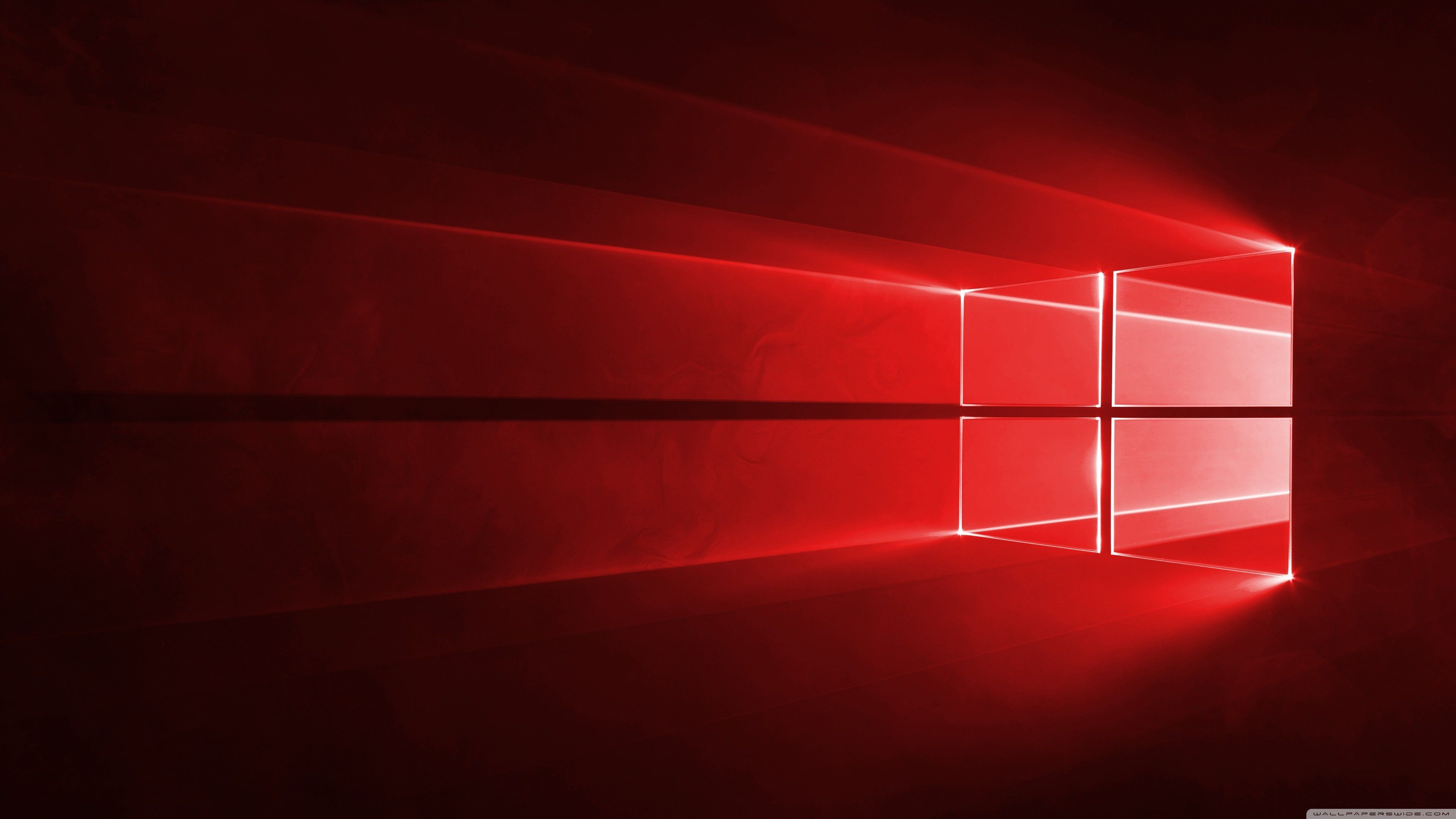 3840x2160 Windows 10 Red In 4k Hd Wide Wallpaper For