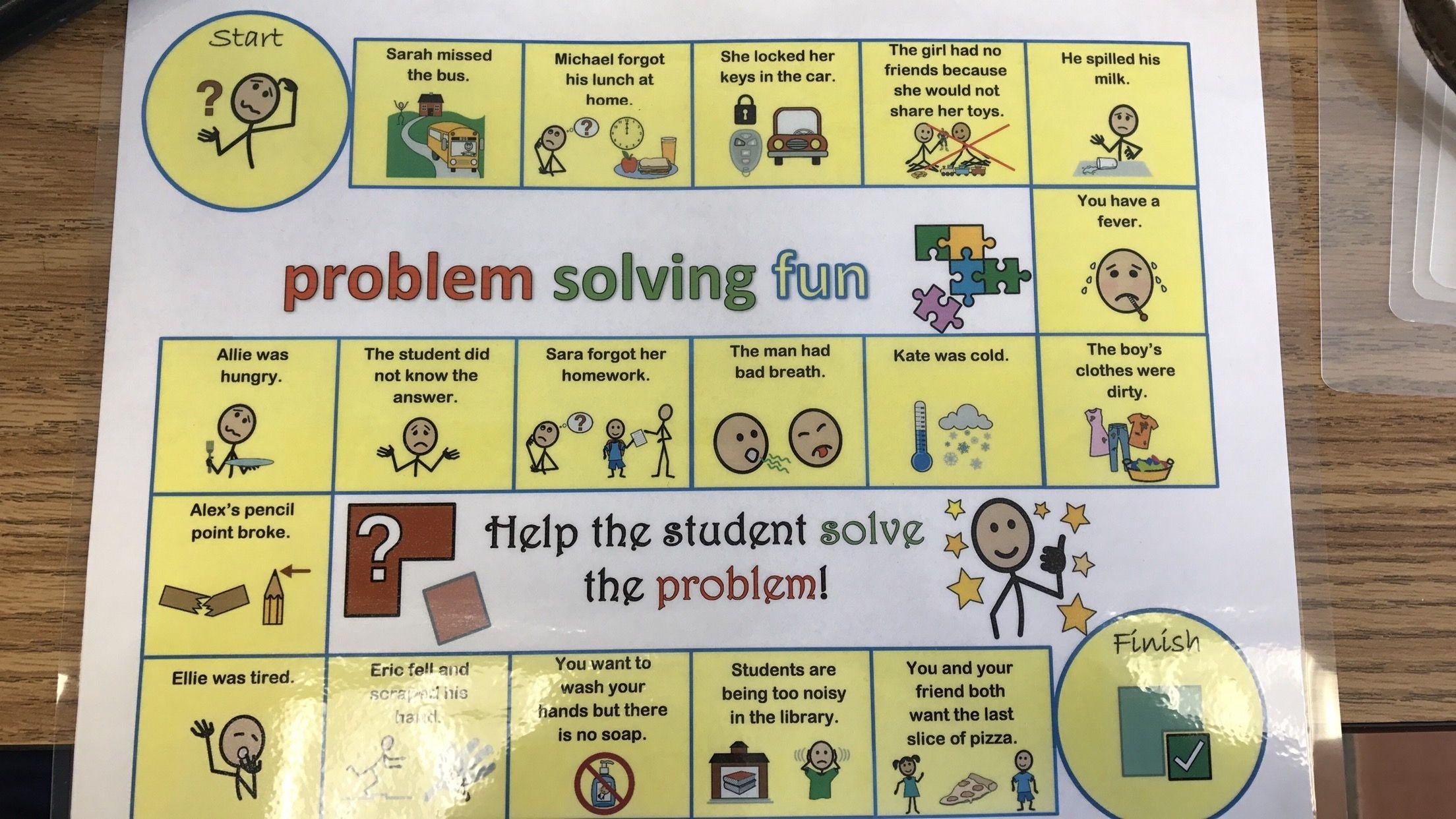Problem Solving Game Board Problem solving, Solving