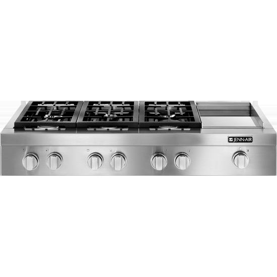 Jennairpro Style 48 Gas Rangetop With Griddle Jgcp548wp Appliances Range Top Dream Kitchens Design