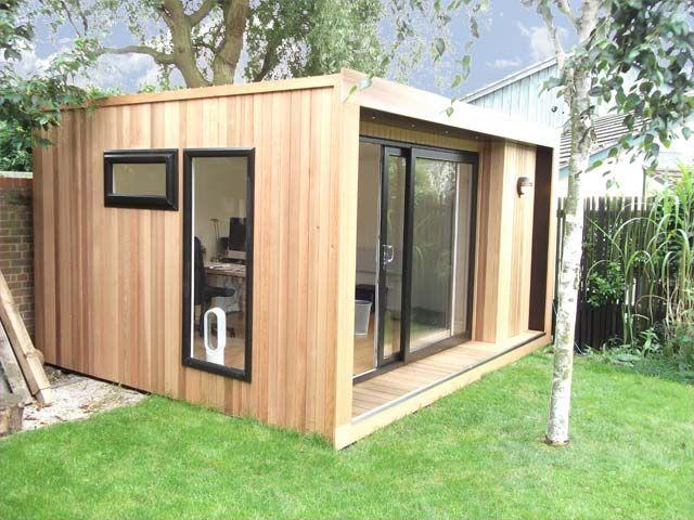 Caseta de madera para oficina modelo edge outdoor - Casetas prefabricadas para jardin ...
