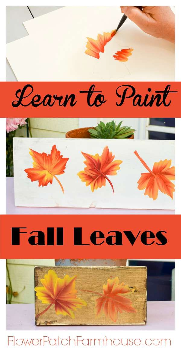 How to Paint Fall Leaves for Autumn Decor #tolepainting