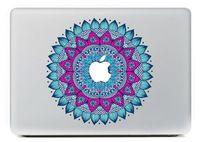 Het decoratieve patroon van blauwe laptop bescherming vinyl sticker sticker skin voor macbook pro 13 15/lucht/netvlies mc-046
