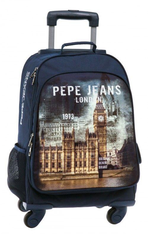 mochila 4 ruedas pepe jeans  london original