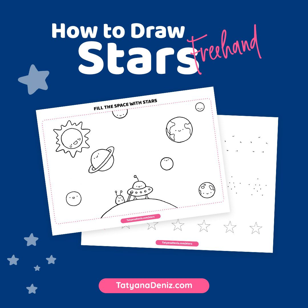 How To Draw A Star Freehand In