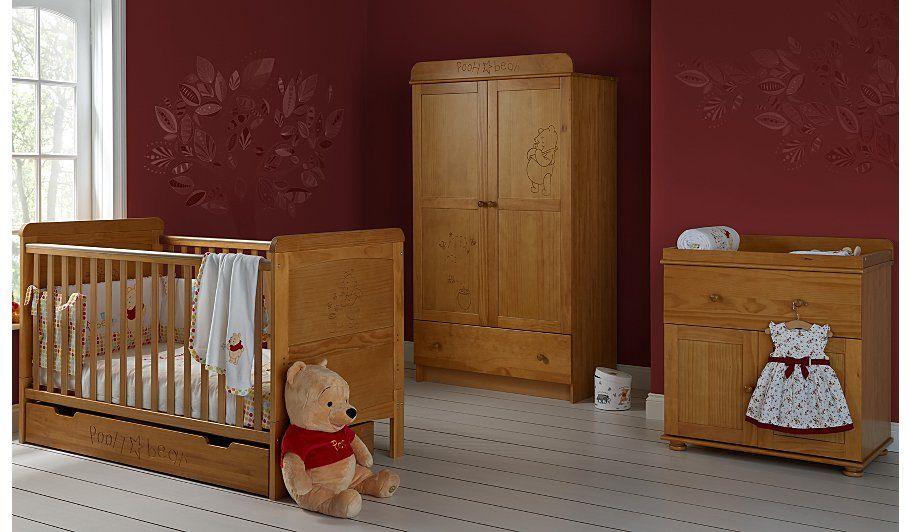 Buy Obaby Winnie The Pooh 3 Piece Nursery Furniture Room Set Pine From Our Nursery Furniture Ranges Range Today From George At Nursery Furniture Sets Nursery Furniture Cot Bedding