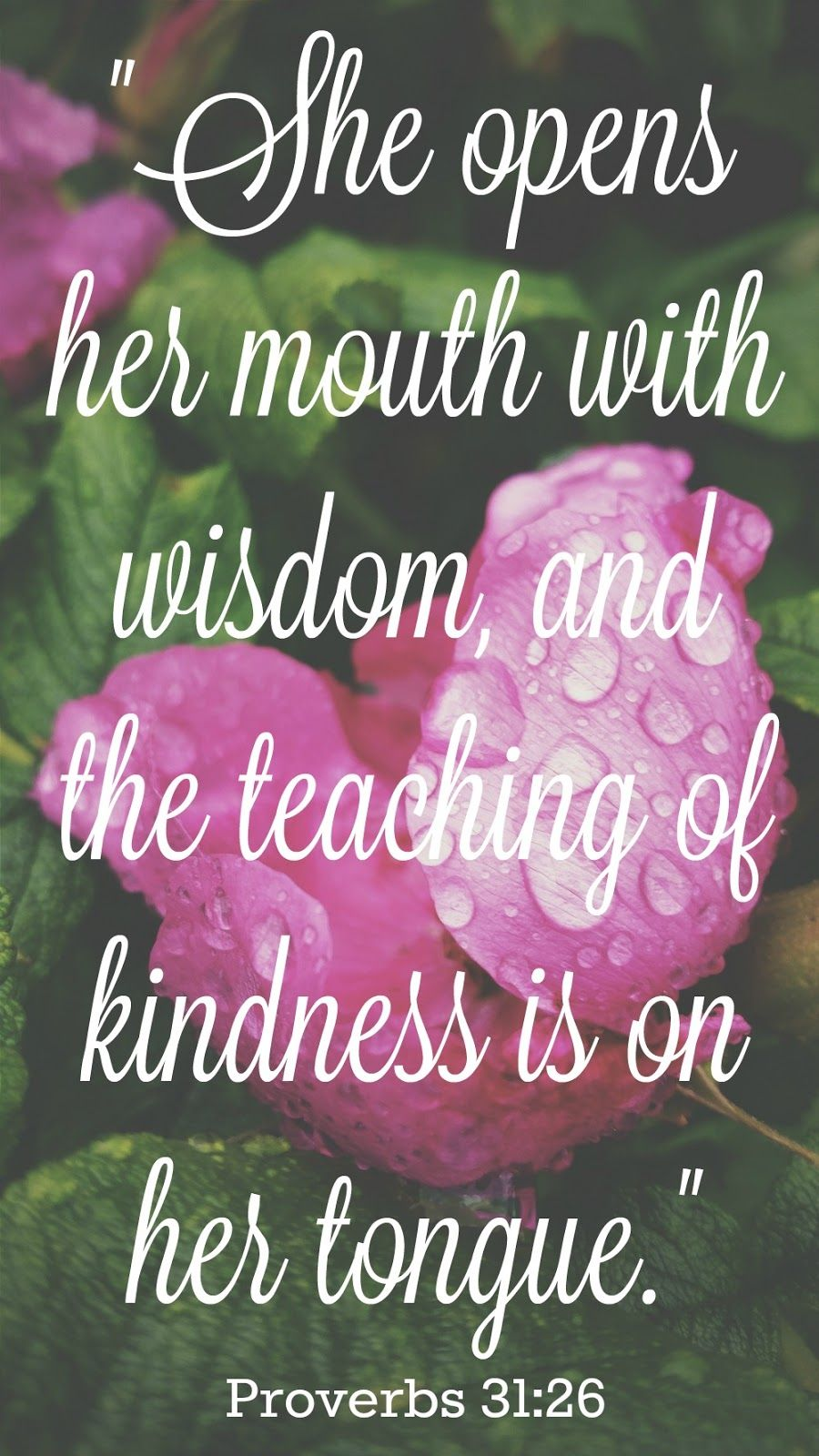 One Word for 2016 Kindness Bible verses about mothers