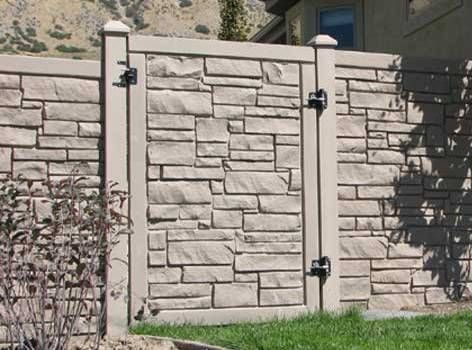 stone fences landscaping ideas with boulders gabion