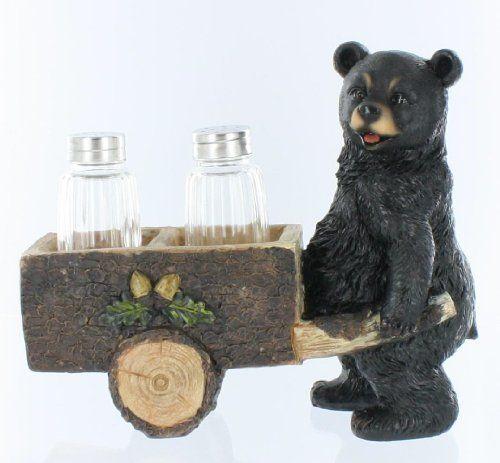 Ceramic Bear Cookie Jar Cabin Lodge Kitchen Decor Country Decoration Cookie Jars Vintage Cookie Jars Jar