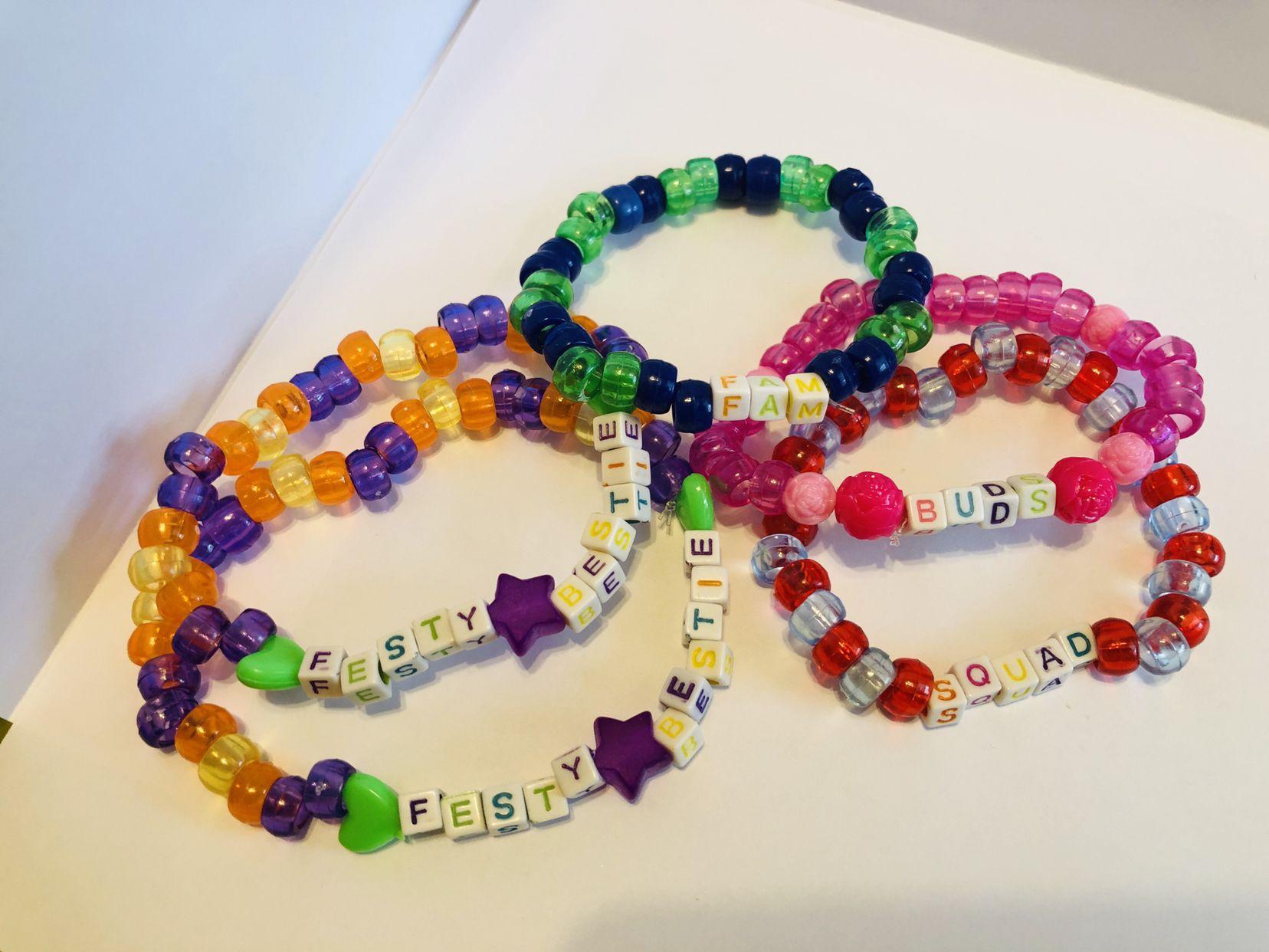 8 75 A Bundle Of 5 Bracelets Themed Around Friendship