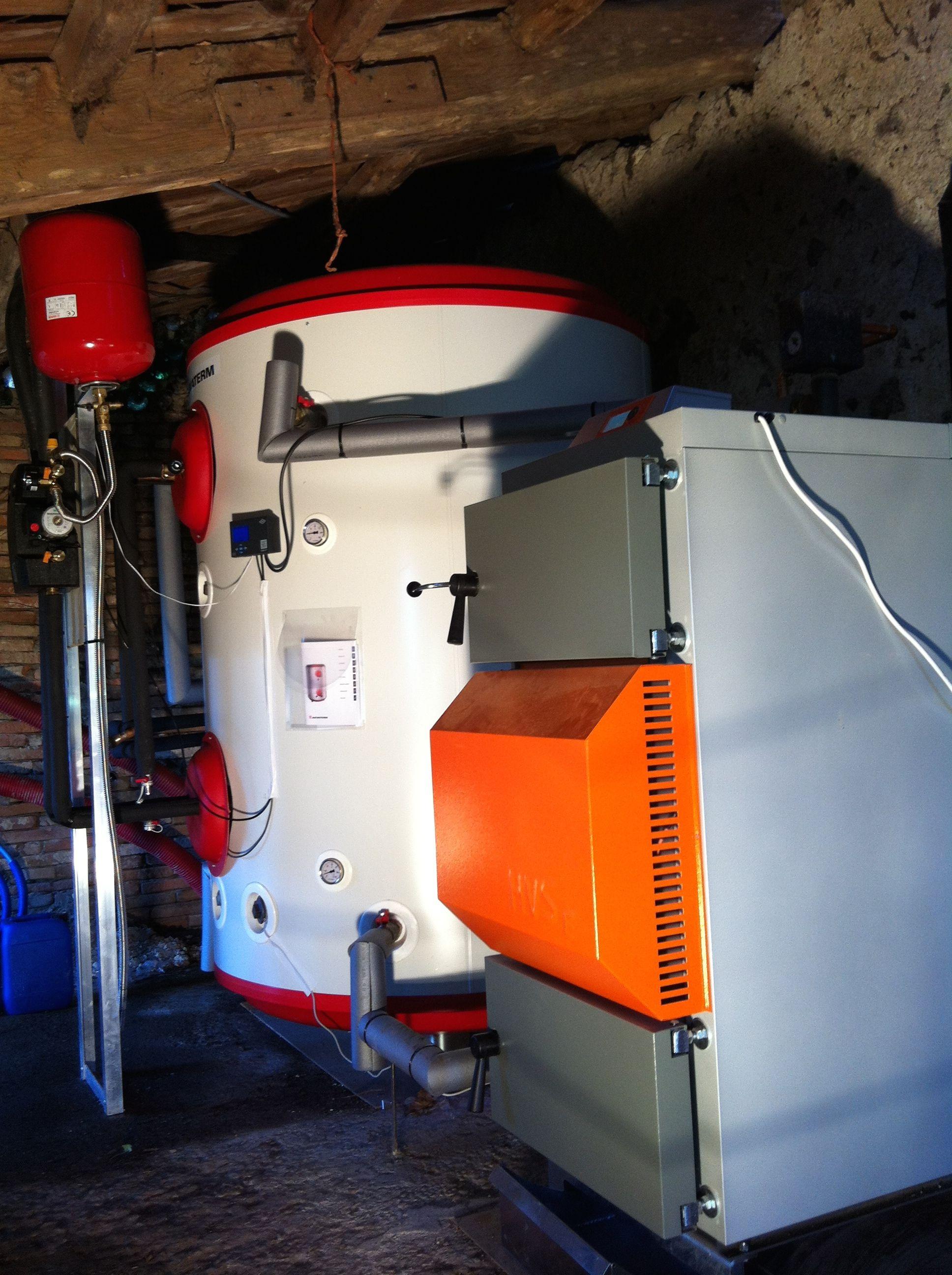 install of a 40kw solarbayer hvs wood gasification boiler. Black Bedroom Furniture Sets. Home Design Ideas
