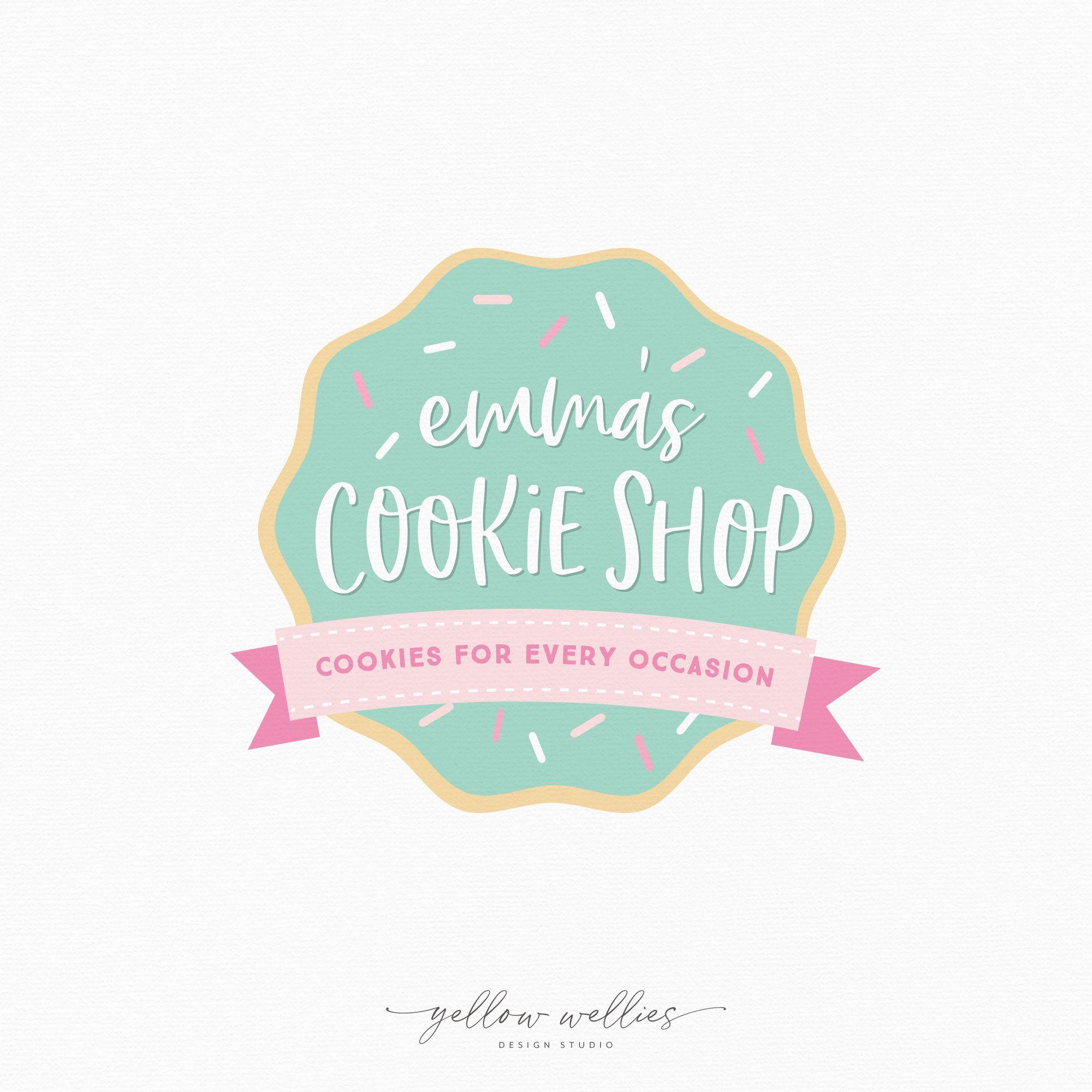 Sprinkle Sugar Cookie Premade Logo Design Bakery Logo