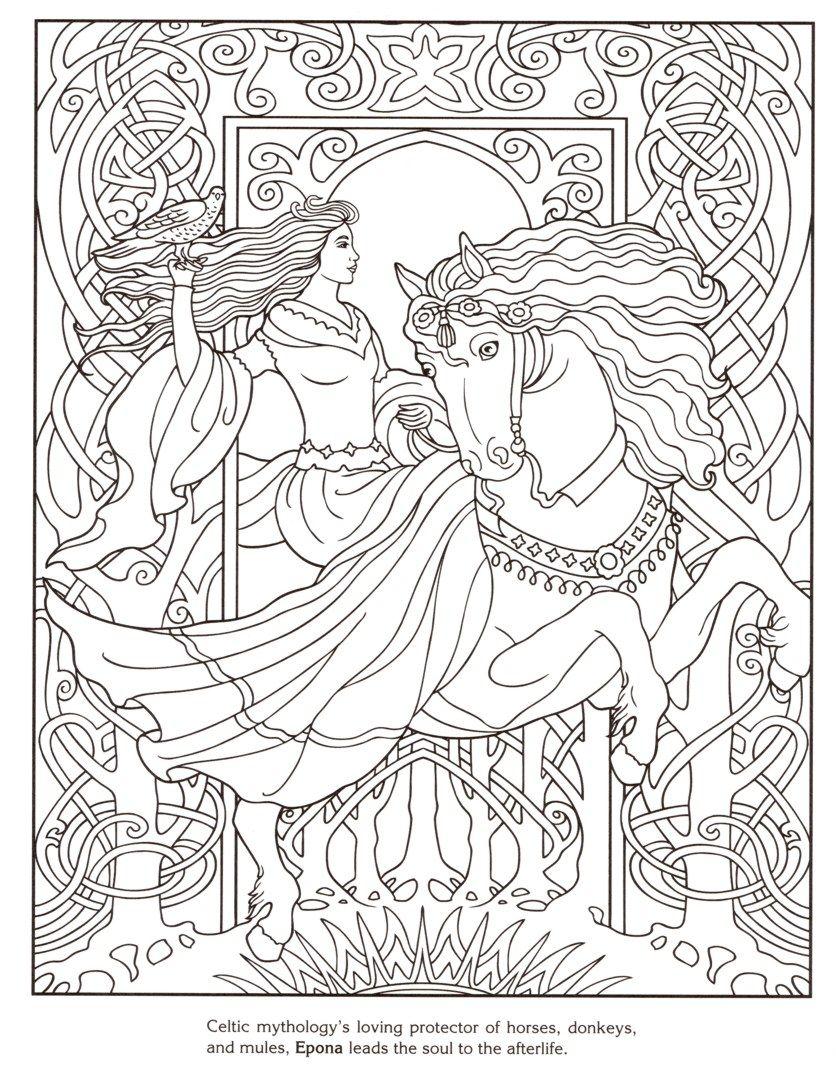 Dover Publishing Goddesses Dieren Kleurplaten Kleurboek Kleurplaten Voor Volwassenen