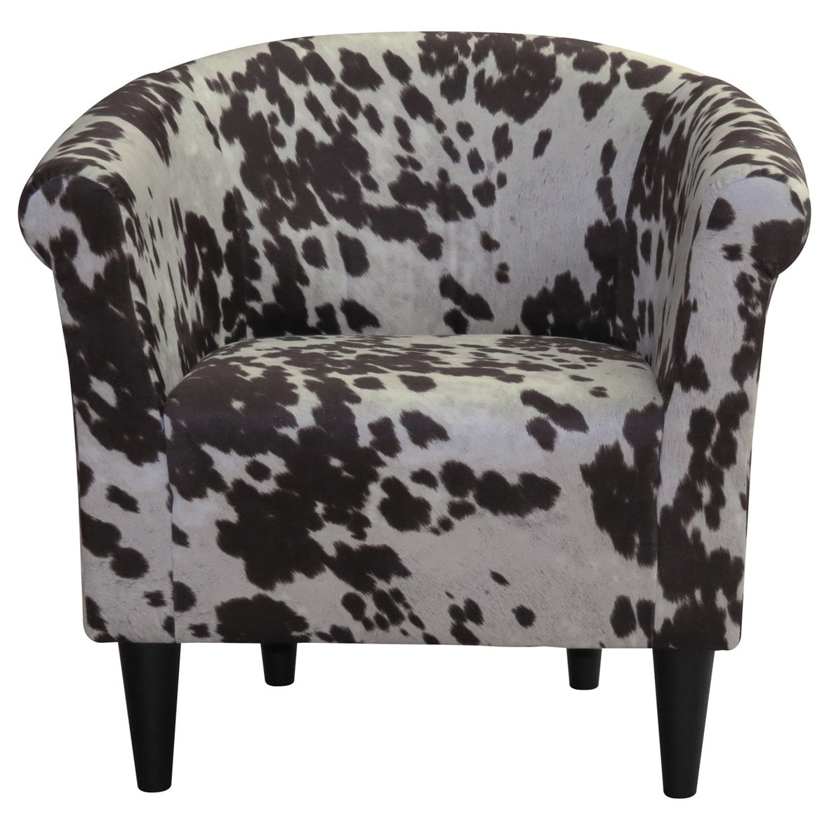 The Gray Barn Goddard Cowhide Print Accent Chair Barrel Chair Printed Accent Chairs Furniture