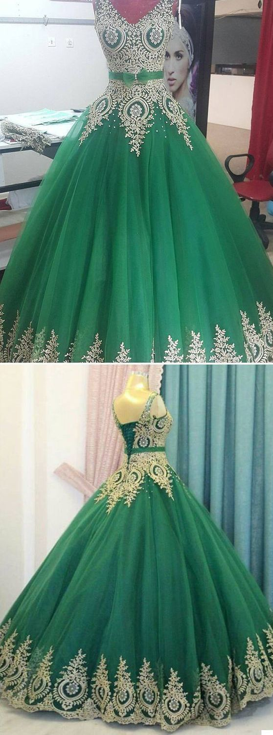 8f10029be75f A-LINE V NECK HUNTER PROM DRESSES QUINCEANERA ELEGANT EVENING DRESSES on  Luulla