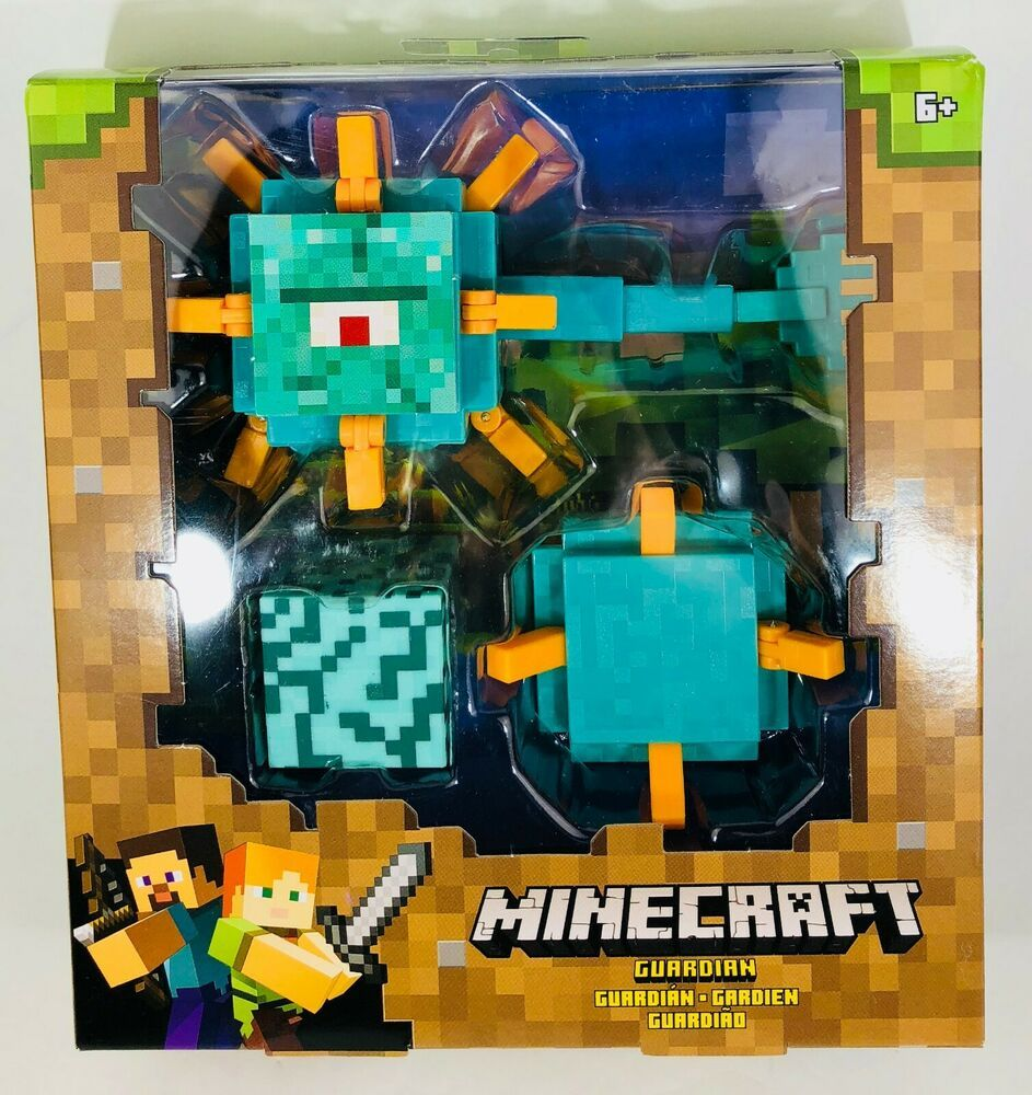 New Minecraft Guardian Action Figure Prismarine Block Swimming Minecraft Playing Game Action Figures Block Craft Minecraft
