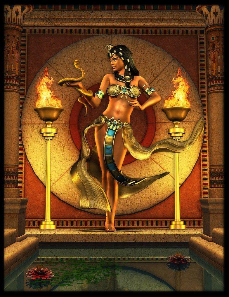 Renenutet Antiguo Arte Egipcio Egipto Antiguo Dioses Egipcios